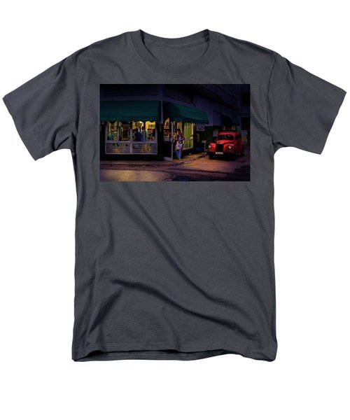 Gasolinera Linea Y Calle E Havana Cuba Men's T-Shirt  (Regular Fit) by Charles Harden