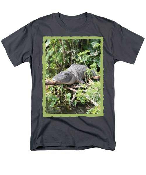 Gator In Green Men's T-Shirt  (Regular Fit)