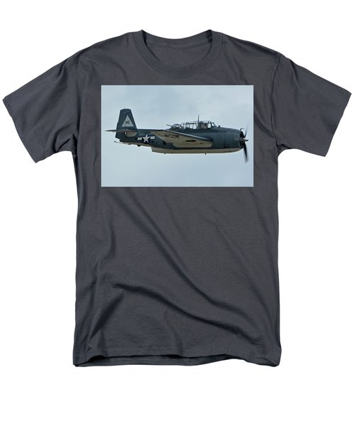 Men's T-Shirt  (Regular Fit) featuring the photograph General Motors Tbm-3e Avenger Nx7835c Chino California April 30 2016 by Brian Lockett