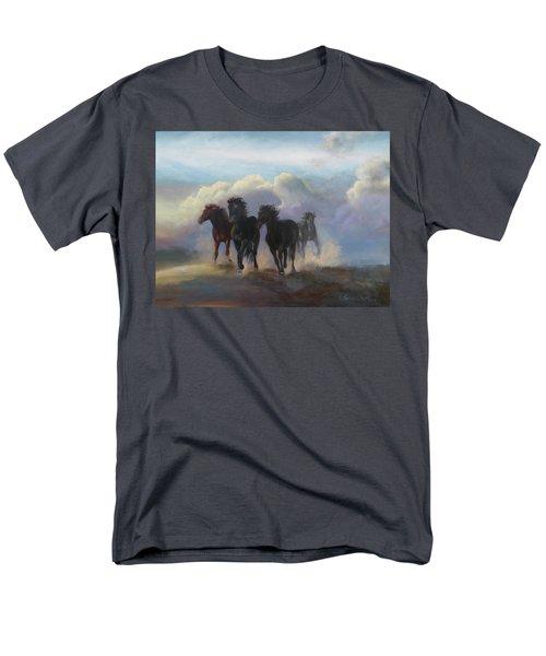 Ghost Horses Men's T-Shirt  (Regular Fit) by Karen Kennedy Chatham