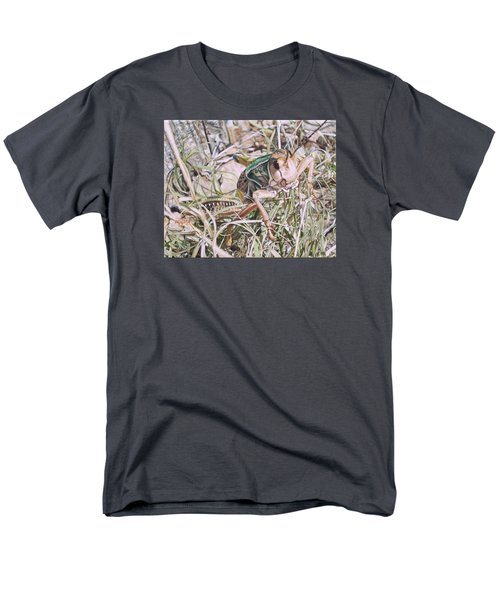 Men's T-Shirt  (Regular Fit) featuring the painting Giant Grasshopper by Joshua Martin