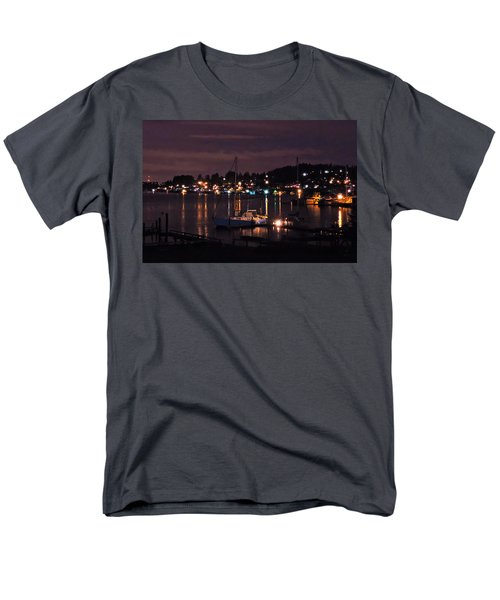 Gig Harbor At Night Men's T-Shirt  (Regular Fit) by Jack Moskovita