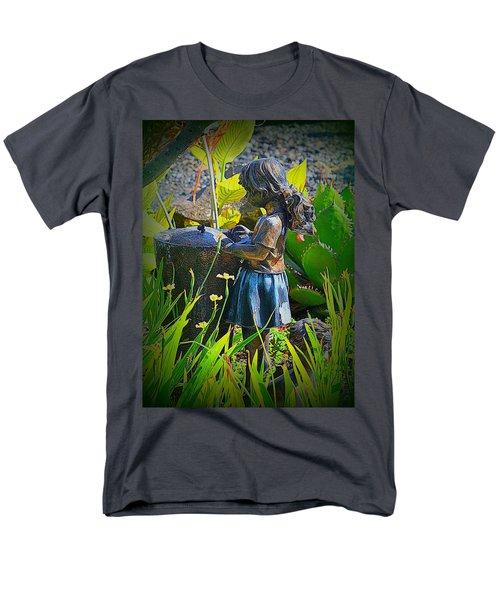 Men's T-Shirt  (Regular Fit) featuring the photograph Girl In The Garden by Lori Seaman