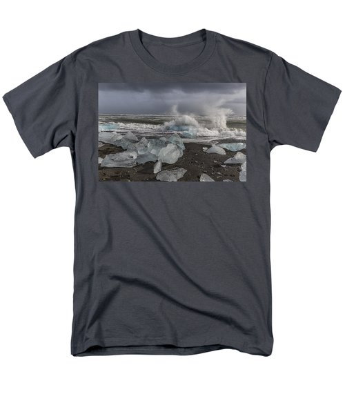 Glacial Lagoon Iceland 2 Men's T-Shirt  (Regular Fit) by Kathy Adams Clark