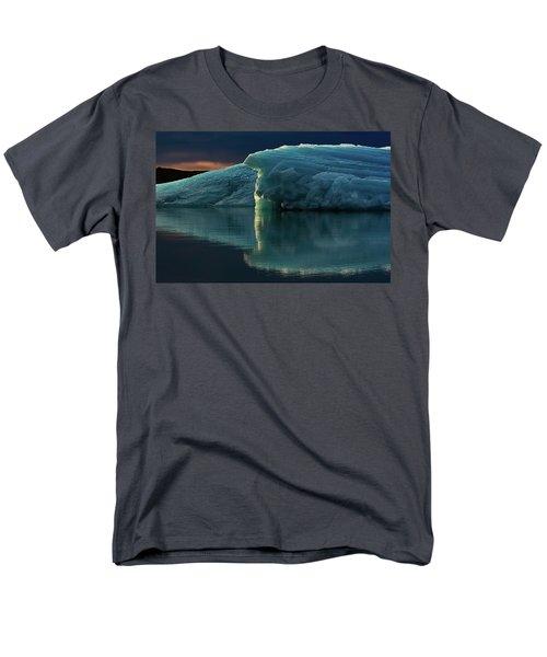 Glacial Lagoon Reflections Men's T-Shirt  (Regular Fit) by Allen Biedrzycki
