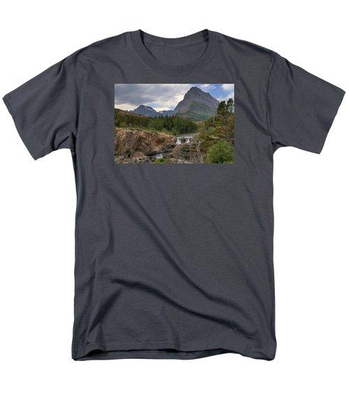 Glacier National Park Landscape Men's T-Shirt  (Regular Fit) by Alan Toepfer