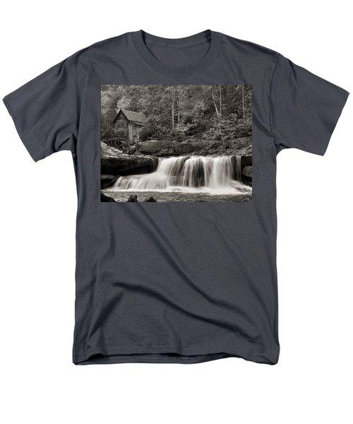 Glade Creek Grist Mill Monochrome Men's T-Shirt  (Regular Fit) by Chris Flees