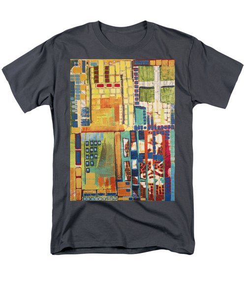 Men's T-Shirt  (Regular Fit) featuring the painting Glass Bottom Boeing by Donna Howard