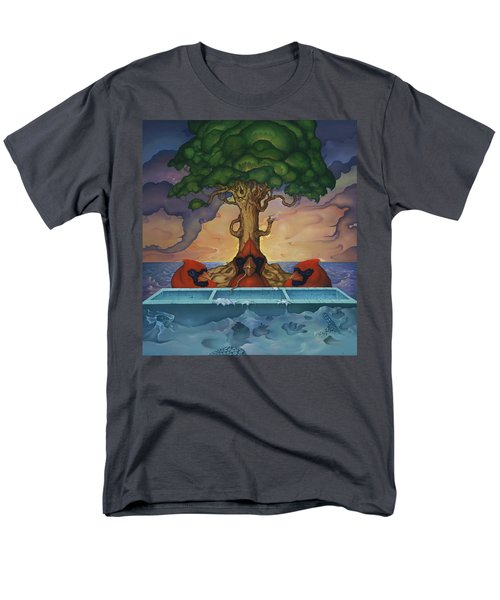 Global Warming And The Ridiculousness Of Discussing The Next Ice Age Men's T-Shirt  (Regular Fit) by Andrew Batcheller