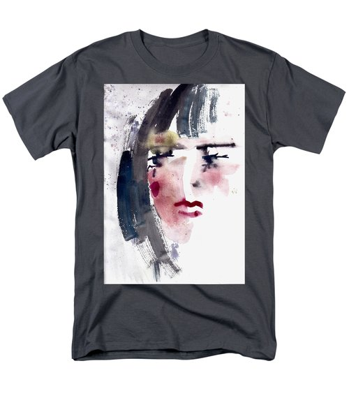 Men's T-Shirt  (Regular Fit) featuring the painting Gloomy Woman  by Faruk Koksal