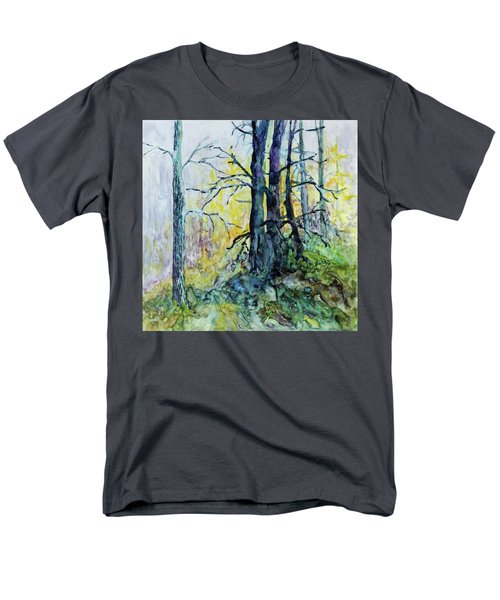 Men's T-Shirt  (Regular Fit) featuring the painting Glow From The Tamarack by Joanne Smoley