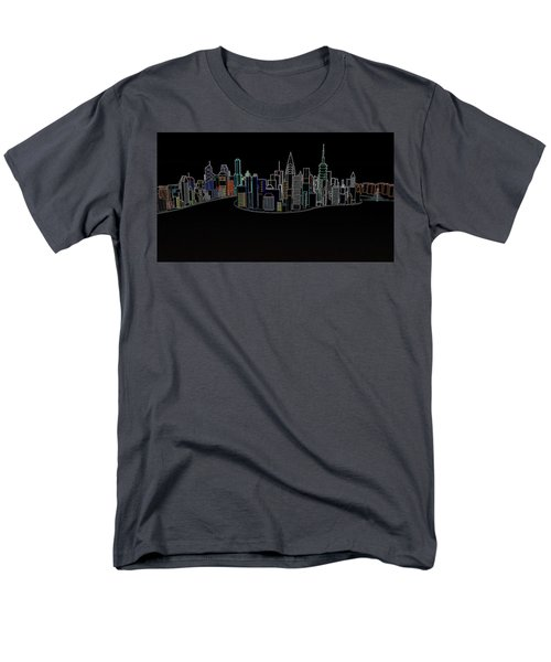 Glowing City Men's T-Shirt  (Regular Fit) by Thomas M Pikolin