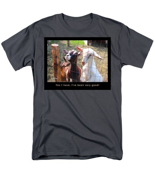 Men's T-Shirt  (Regular Fit) featuring the photograph Goats Poster by Felipe Adan Lerma