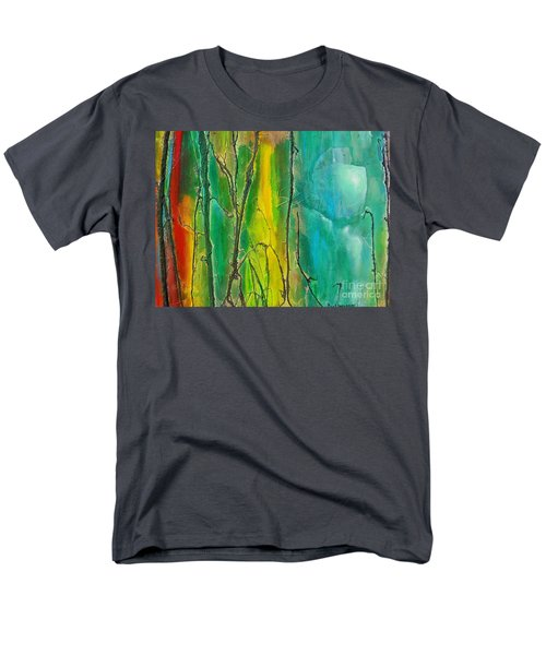 God Has Moved  Into The Neigborhood Men's T-Shirt  (Regular Fit) by Dan Whittemore
