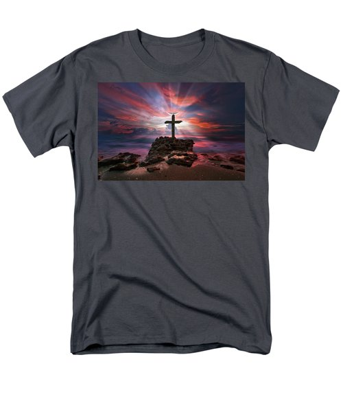 Men's T-Shirt  (Regular Fit) featuring the photograph God Is My Rock Special Edition Fine Art by Justin Kelefas