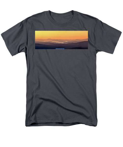 Men's T-Shirt  (Regular Fit) featuring the photograph Golden Dawn Over Squam And Winnipesaukee by Sebastien Coursol