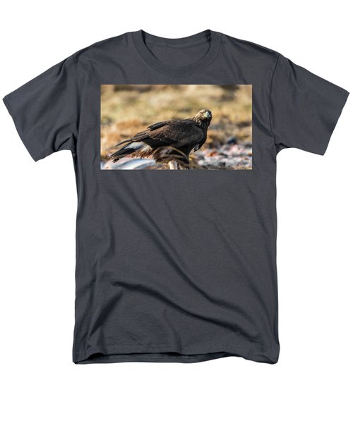 Men's T-Shirt  (Regular Fit) featuring the photograph Golden Eagle's Glance by Torbjorn Swenelius