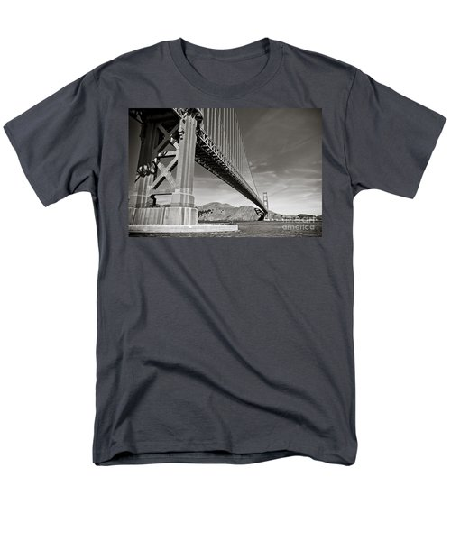 Golden Gate From The Water - Bw Men's T-Shirt  (Regular Fit) by Darcy Michaelchuk