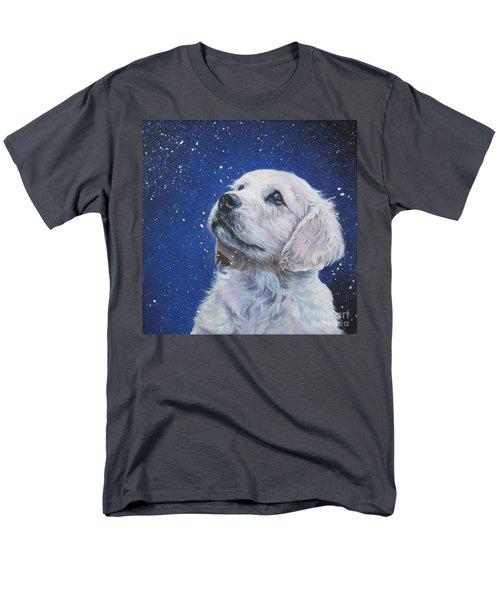 Golden Retriever Pup In Snow Men's T-Shirt  (Regular Fit) by Lee Ann Shepard