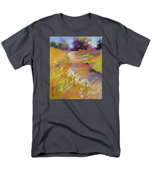 Men's T-Shirt  (Regular Fit) featuring the painting Golden Splendor by Rae Andrews