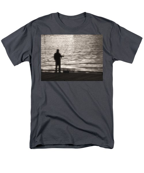 Men's T-Shirt  (Regular Fit) featuring the photograph Gone Fishing by Mark Alan Perry
