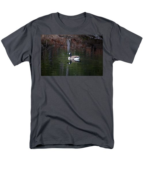Men's T-Shirt  (Regular Fit) featuring the photograph Goose On A Pond by Jeff Severson