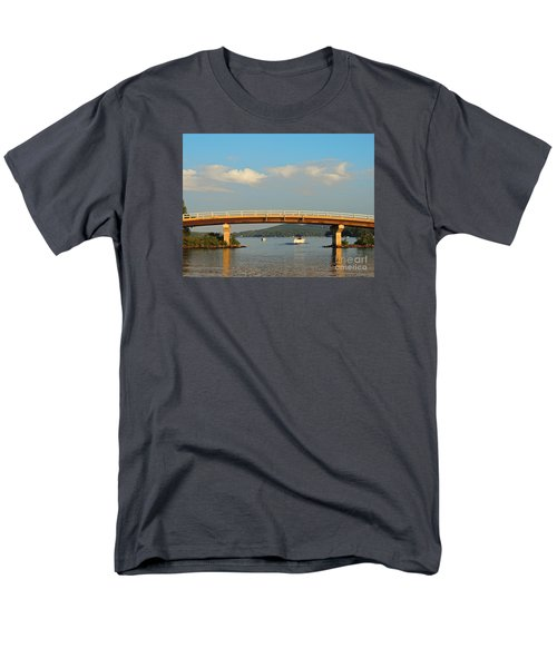 Men's T-Shirt  (Regular Fit) featuring the photograph Governor's Island Bridge by Mim White