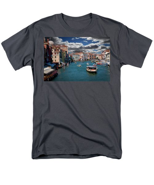 Men's T-Shirt  (Regular Fit) featuring the photograph Grand Canal Daylight by Harry Spitz