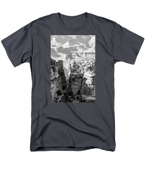 Men's T-Shirt  (Regular Fit) featuring the photograph Grand Canyon Bw Impression by Juergen Klust