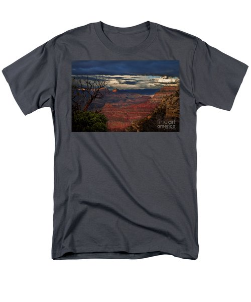Men's T-Shirt  (Regular Fit) featuring the photograph Grand Canyon Storm Clouds by John A Rodriguez