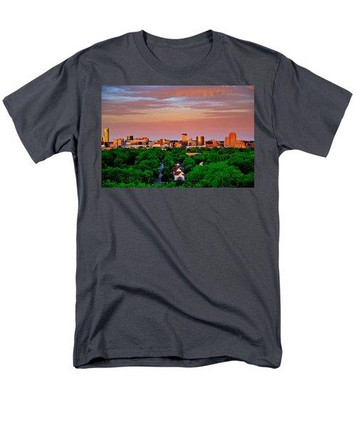 Grand Rapids Mi- 10 The Art Prize Men's T-Shirt  (Regular Fit) by Robert Pearson