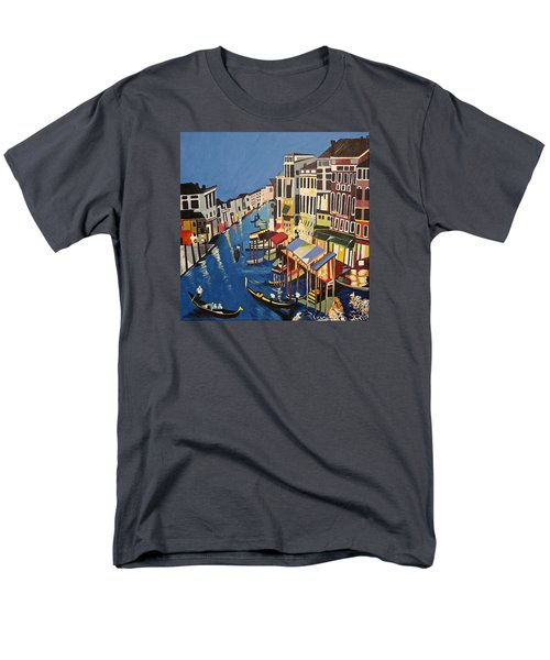 Men's T-Shirt  (Regular Fit) featuring the painting Grande Canal by Donna Blossom