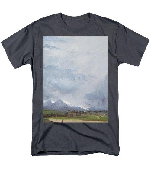 Grantsville Skies Men's T-Shirt  (Regular Fit) by Jane Autry