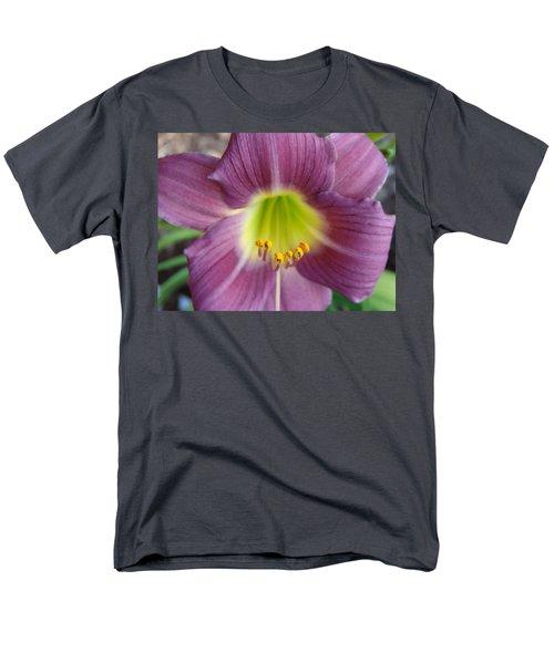 Grape Purple Daylilies  Men's T-Shirt  (Regular Fit) by Rebecca Overton