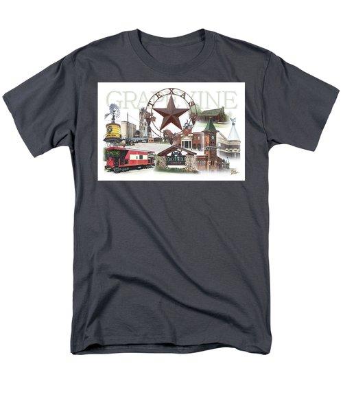 Grapevine Texas Men's T-Shirt  (Regular Fit) by Doug Kreuger