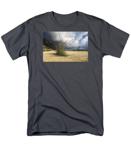 Grass Growing Out Of Crack In Tarmac Men's T-Shirt  (Regular Fit) by Perry Van Munster