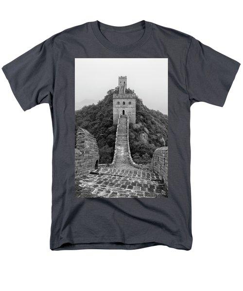 Men's T-Shirt  (Regular Fit) featuring the photograph Great Wall 1, Jinshanling, 2016 by Hitendra SINKAR