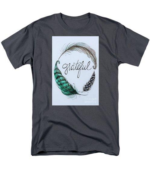 Grateful Men's T-Shirt  (Regular Fit) by Elizabeth Robinette Tyndall