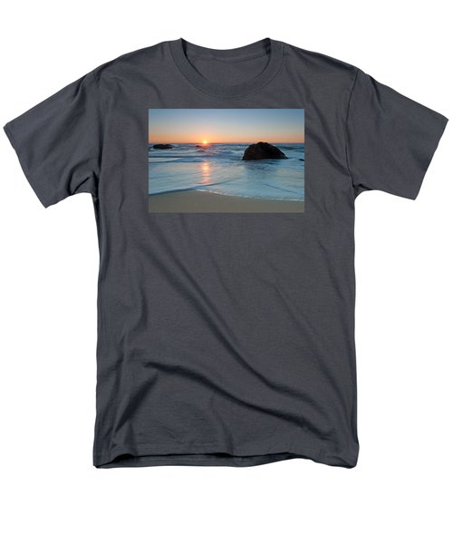 Gray Whale Cove State Beach 2 Men's T-Shirt  (Regular Fit) by Catherine Lau