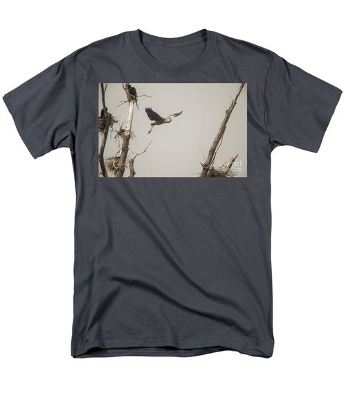 Men's T-Shirt  (Regular Fit) featuring the photograph Great Blue Heron - 6 by David Bearden