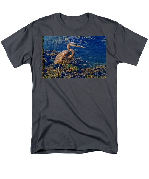 Great Blue Heron And Seaweed Men's T-Shirt  (Regular Fit) by Constantine Gregory