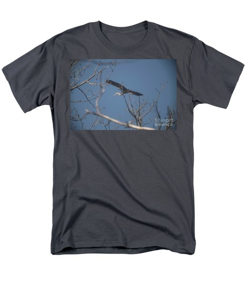 Men's T-Shirt  (Regular Fit) featuring the photograph Great Blue In Flight by David Bearden