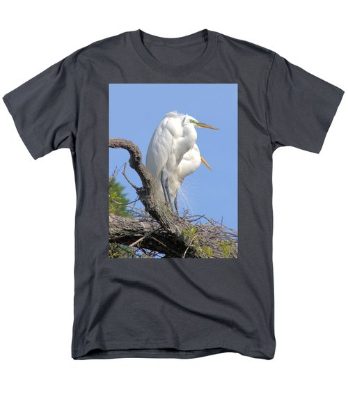 Men's T-Shirt  (Regular Fit) featuring the photograph Great Egret by Marion Johnson