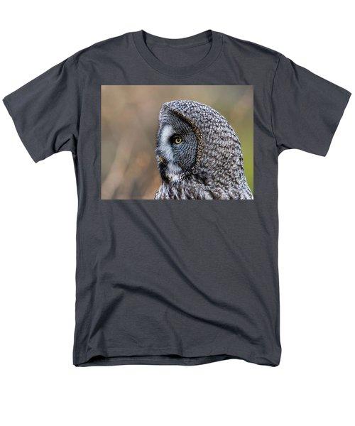 Great Grey's Profile A Closeup Men's T-Shirt  (Regular Fit) by Torbjorn Swenelius