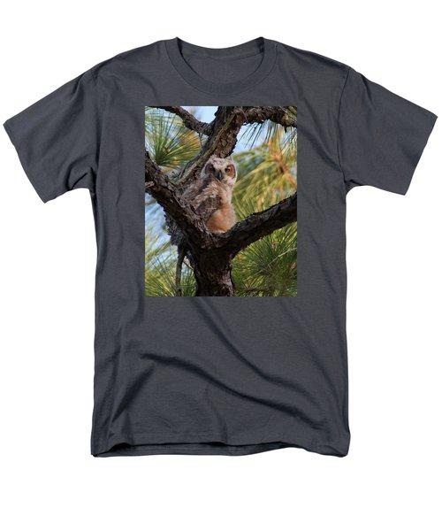 Great Horned Owlet Men's T-Shirt  (Regular Fit) by Paul Rebmann