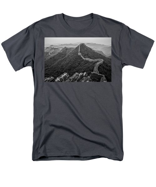 Men's T-Shirt  (Regular Fit) featuring the photograph Great Wall 2, Jinshanling, 2016 by Hitendra SINKAR