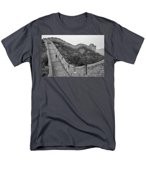 Men's T-Shirt  (Regular Fit) featuring the photograph Great Wall 9, Jinshanling, 2016 by Hitendra SINKAR
