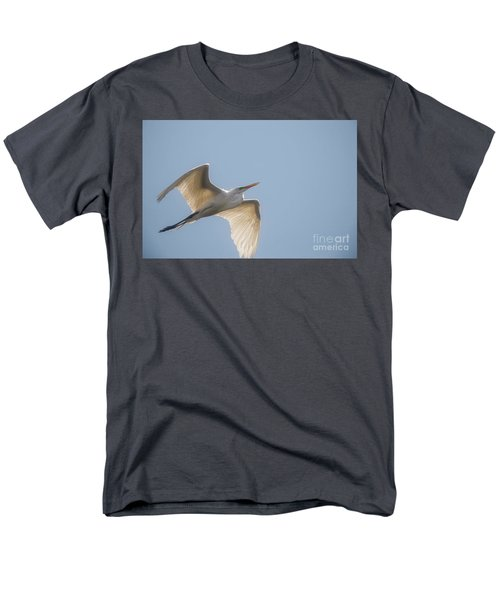 Men's T-Shirt  (Regular Fit) featuring the photograph Great White Egret - 2 by David Bearden