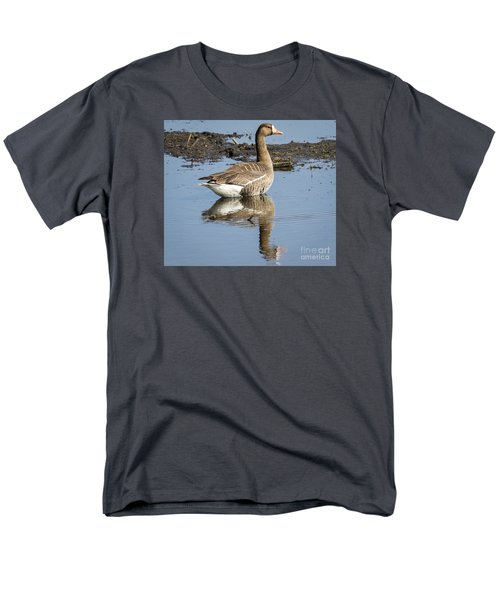 Men's T-Shirt  (Regular Fit) featuring the photograph Great White Fronted Goose by Ricky L Jones