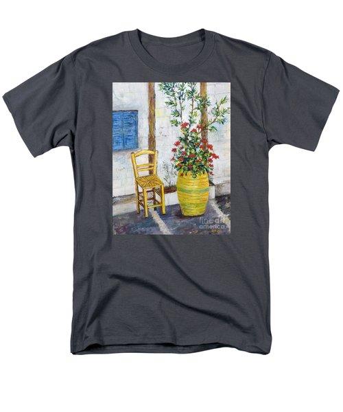 Greek Chair Men's T-Shirt  (Regular Fit) by Lou Ann Bagnall